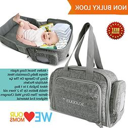 3 in 1 Portable Foldable Bassinet Travel Bed for Baby Functi