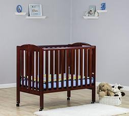 Dream On Me 2 in 1 Portable Folding Stationary Side Crib, Ch