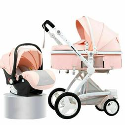 2 3 in 1 Baby stroller travel system infant Bassinet Combo P