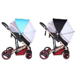 2-in-1 Baby Stroller Mosquito Net Sun Shade Canopy Fit Pram