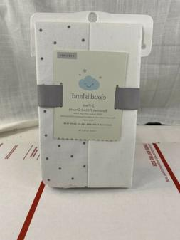 Cloud Island 2 Pack Bassinet Fitted Sheet 100% Cotton New