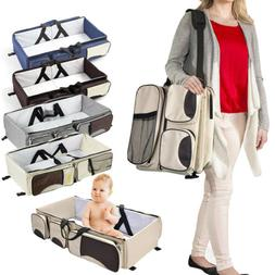 3-in-1 Diaper Tote Bag Baby Bed Travel Bassinet Nappy Changi