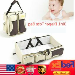 3 in1 Portable Diaper Tote Bag Travel Bassinet Nappy Changin