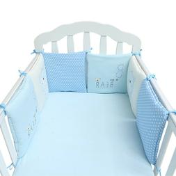 6 Pcs Baby Bed Cushion Soft Safety Crib Cot Bumper Pads for