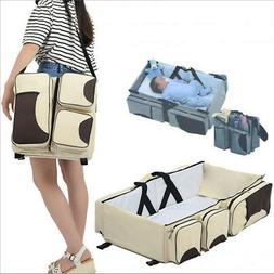 Baby 3 in 1 Diaper Bag Portable Changing Station travel bass