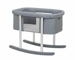 Baby Bassinet Cradle Includes Gentle Rocking Feature Great F