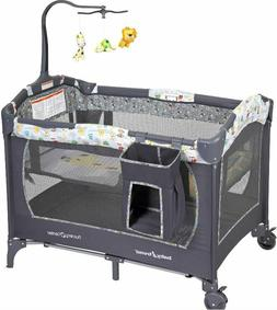 BABY BASSINET Infant Nursery Center Playard Playpen Gray