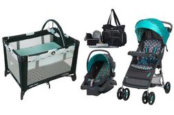 Baby Boy Stroller Car Seat Diaper Bag Playard Bassinet Combo