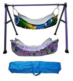Baby Cradle,Cote,Swing fully folding blue color with two cot