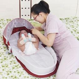 Baby Foldable Portable Bassinet Bed Travel Mosquito Net Infa