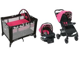 Baby Girl Travel System Stroller Car Seat Compact Infant Pla