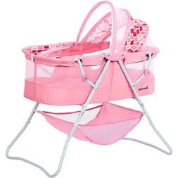 Baby Infant Crib Bassinet Cradle With Hood Cover Storage Fol