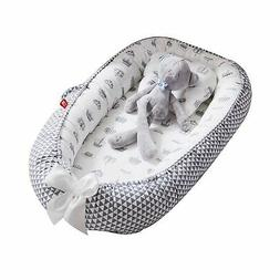 Baby Lounger Nest Bassinet for Bed, Portable Baby Co-Sleepin