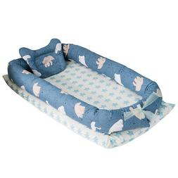Baby Lounger Portable Infant Crib for Bed Co-Sleeping Bassin