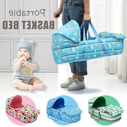 Baby Moses Basket Safe Newborn Travel Bed Bassinet Carrier C