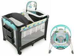 Baby Playard Crib Bassinet Infant Automatic Bouncer Combo se