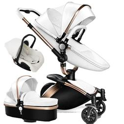 Baby Stroller 3 in 1 high-view 360 Rotation Bassinet folding