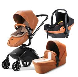Baby Stroller 3 in 1 Infant High Landscape pushchair PU with