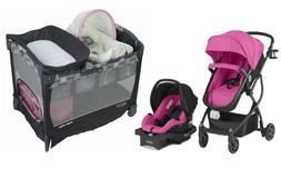 Baby Stroller Car with Seat Playard Bassinet Travel System C