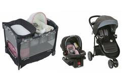 Graco Stroller Combo with Baby Car Seat Infant Playard Bassi