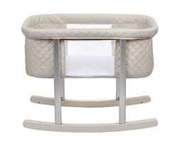 Baby Bassinet Cradle Includes Gentle Rocking Feature, Great