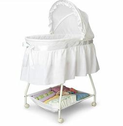 Bassinet For Baby Girl Boys Bedside Cozy Soft Canopy Storage