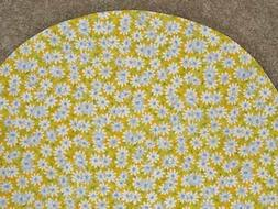 BASSINET SHEET/ COTTON / WHITE DAISIES ON 3 COLORS