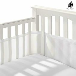 BreathableBaby Classic Breathable Mesh Crib Liner - White