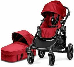 Baby Jogger City Select Twin Double Stroller Red with Second