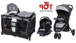 Compact Fold Travel System Baby Stroller Car Seat Base Smart