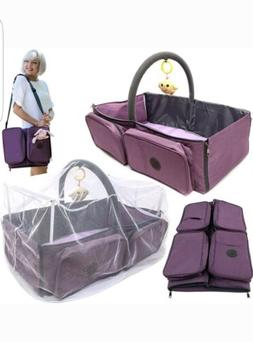 Diaper Bag / Diaper Changing Station / Baby Travel Bassinet