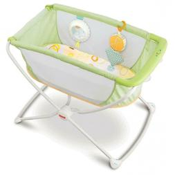 Fisher-Price Rock with Me Bassinet, Green
