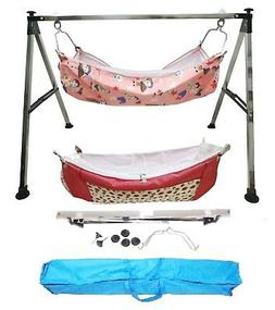 Smart Baby Products Folding Baby Cradle Steel Squire Pipe wi