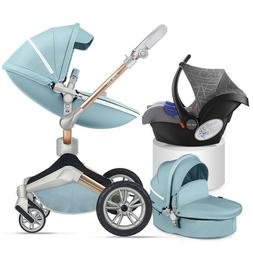 Hot mom 3 in 1 Baby Stroller 360 Rotation high view Bassinet