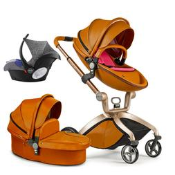 Hot mom Baby Stroller 3 in 1 travel Bassinet Combo high view