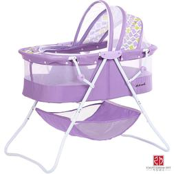 Dream On Me Karley Bassinet In Periwinkle Quick Folding Mech