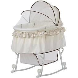 Kids Lacy Portable 2-in-1 Spacious Bassinet And Cradle with