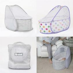 Koo-di Baby Pop Up Travel Cot Bassinet with Mattress and Mos