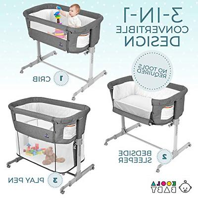 3 in Bassinet Bedside Baby Portable