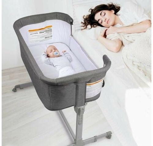 3 in 1 baby bassinet bedside sleeper