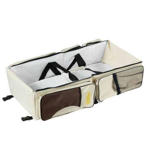 3-in-1 Tote Bag Baby Bed Nappy Changing Carrycot