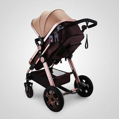 3 in Foldable Stroller View Car