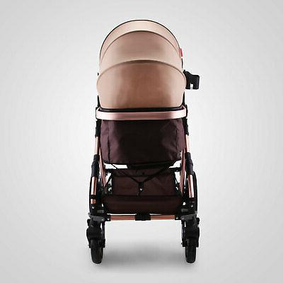 3 Foldable Baby Stroller View Car