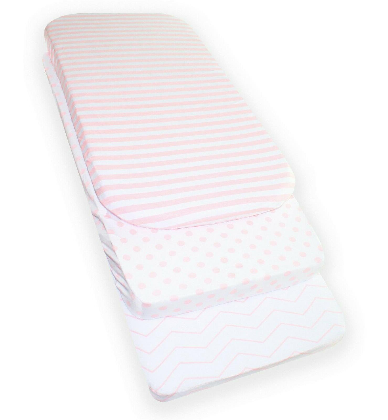 3 Fitted Sheet Set Jersey Pink