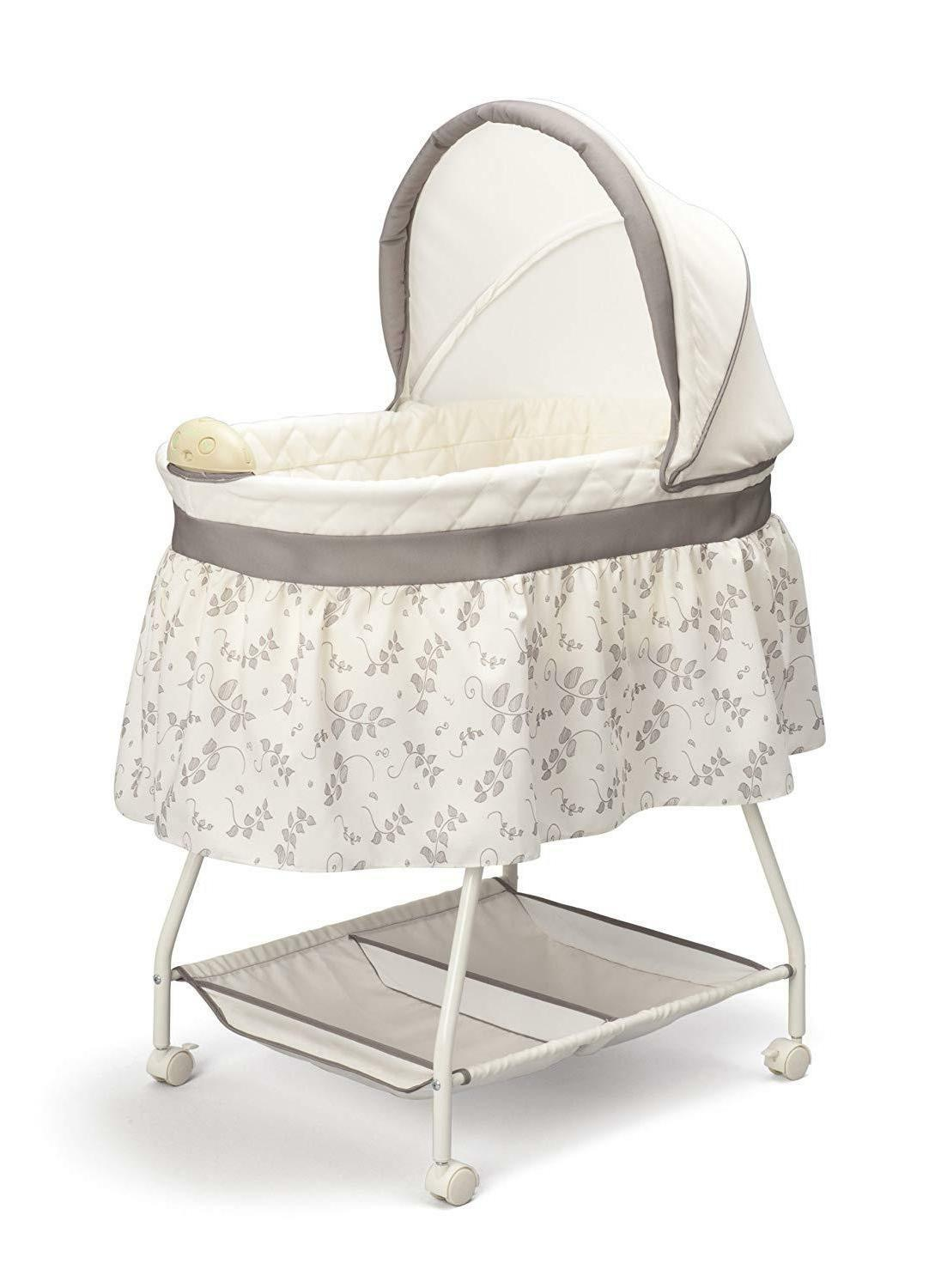 Delta Children Sweet Beginnings Bassinet, Baby Sleeping Bed,