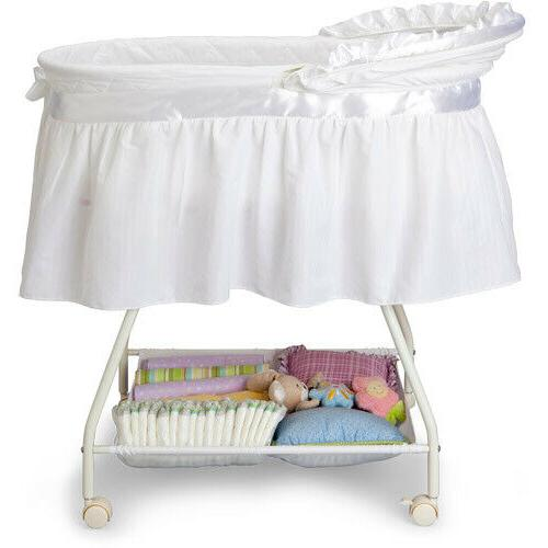 Baby Bassinet Crib Bed w Mattress,