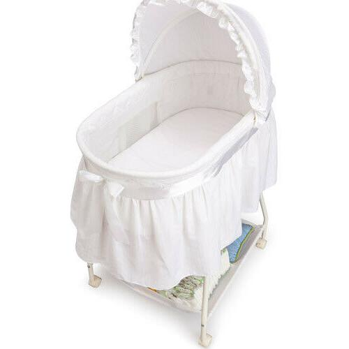 Baby Bassinet - Portable Crib Mattress, White