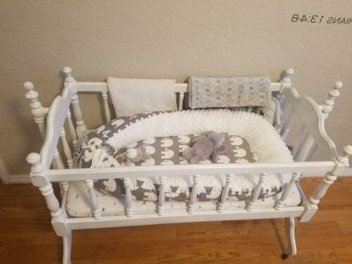 Baby Removable Infant Cushion Crib Cot Cotton