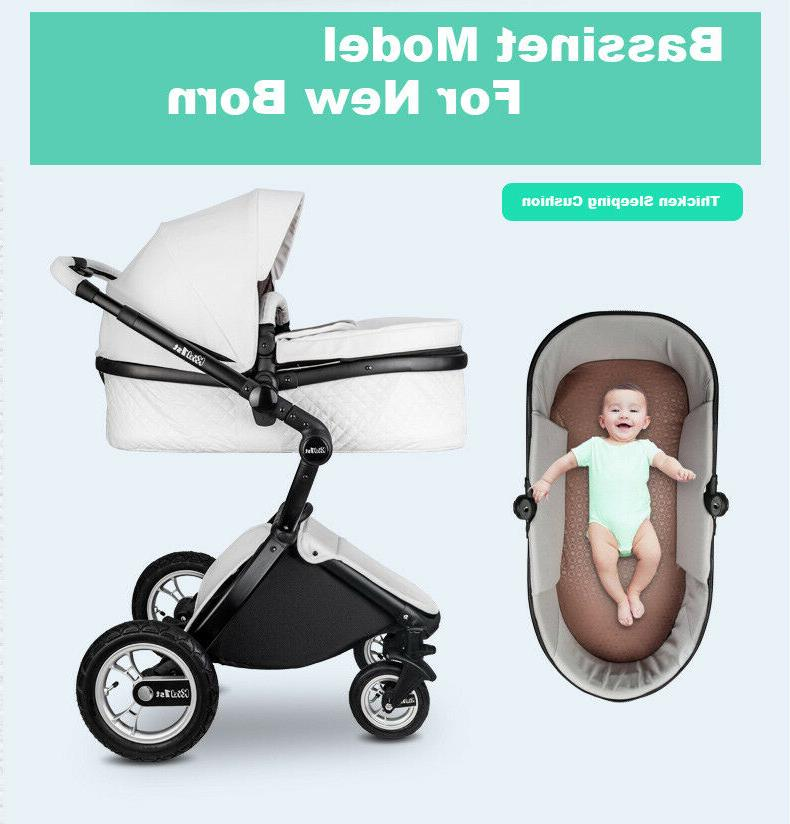 Baby Stroller to Toddler Carriage Bassinet Combo