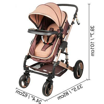 Luxury Baby in Foldable Infant Pushchair Car